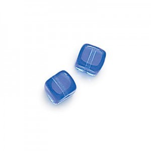 8x11mm Sapphire Cube Beads Loose (300pc)