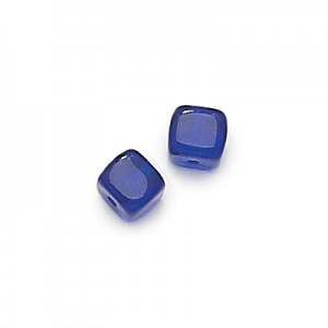 8x11mm Cobalt Cube Beads Loose (300pc)