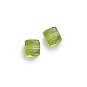 8x11mm Olivine Cube Beads Loose (300pc)