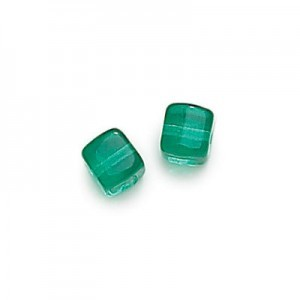 8x11mm Teal Cube Beads Loose (300pc)