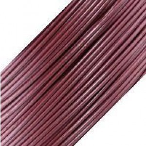 1.5mm Round Leather Cord USA™ Met. Fruit Punch - 50m(164ft) Large Spool