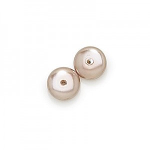 6x2.5mm Cocoa Pearl Smooth Spacer Pearls (600pc)