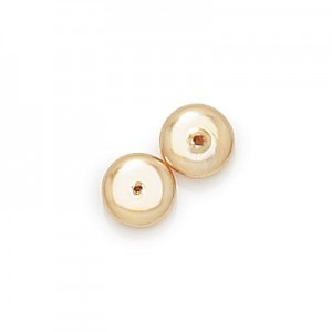 3x8mm Gold Pearl Smooth Spacer Pearls (300pc)