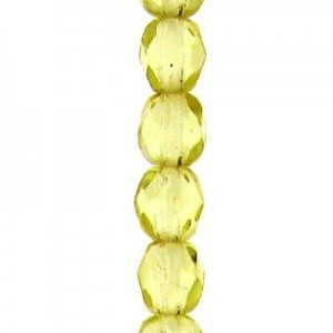 4mm Jonquil Round Fp Czech Beads - 7 Inch Strand (Apx 44 Beads)