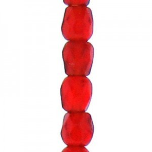 3mm Light Siam Round Fp Czech Beads - 7 Inch Strand (Apx 59 Beads)