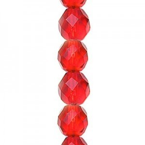4mm Siam Round Fire Polished Czech Beads - 7 Inch Strand (Apx 44 Beads)