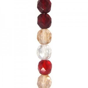 6mm Sweetheart Mix Round Fire Polished Czech Beads - 7 Inch Strand (Apx 29 Beads)