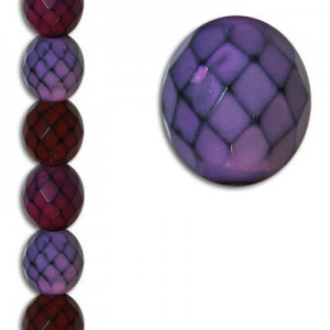 12mm Snake Berry Mix Round Fire Polished Czech Beads - 7 Inch Strand (Apx 15 Beads)
