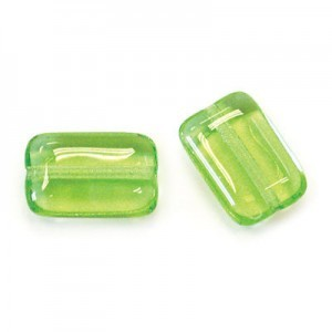 12x8mm Peridot Smooth Chicklet Beads Loose (300pc)