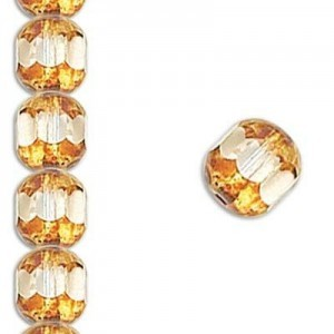 10mm Crystal Fire Polished Picasso 7 Inch Strand (Apx 18 Beads)