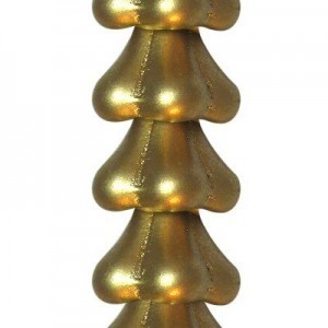 11x13mm Matte Gold Bell-Shaped Flower - 7 Inch Strand (Apx 24 Beads)