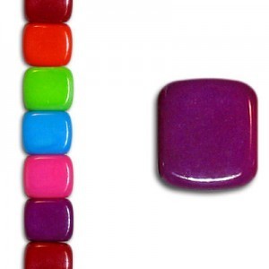8x9mm Neon Party Pearl Mix Cube Czech Beads (Apx 7 Inch Strand / 24 Beads)