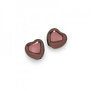 6x6mm Bronze Pearl Heart Shaped Pearls (600pc)