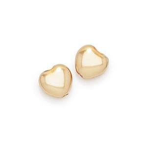 8x8mm Gold Pearl Heart Shaped Pearls (300pc)