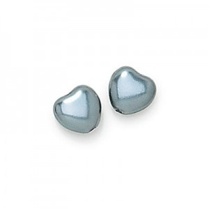 12x12mm Hematite Pearl Heart Shaped Pearls (150pc)