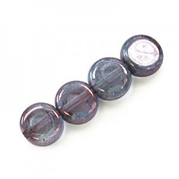 6mm Lumi Amethyst Round Flat Smooth Beads Loose (600pc)