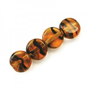 6mm Tortoise Shell Round Flat Smooth Beads Loose (600pc)