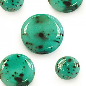 10mm Blue Turquoise Round Flat Smooth Beads Strung (300pc)