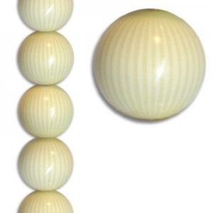 18mm Smooth Round Ivorina Bead 7 Inch Strand (Apx 11 Beads)