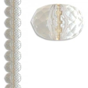 15x23mm Faceted Rondelle Crystal 7 Inch Strand (Apx 12 Beads)