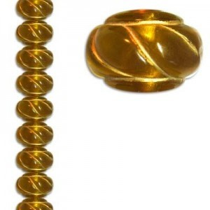 11x16mm Rondelle Brown/Gold 7 Inch Strand (Apx 16 Beads)