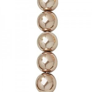 4mm Cocoa Smooth Round Glass Pearls 7 Inch Strand (Apx 48 Beads)
