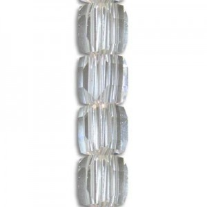 6mm Crystal Cube Celebrity Crystals - 7 Inch Strand (Apx 30 Beads)