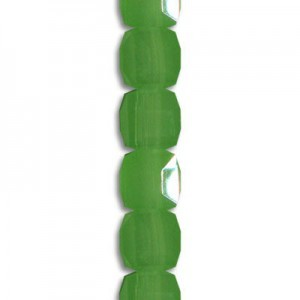 4mm Jade Opal Cube Celebrity Crystals - 7 Inch Strand (Apx 44 Beads)