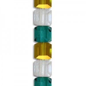 4mm Lollipop Mix Cube Celebrity Crystals - 7 Inch Strand (Apx 44 Beads)