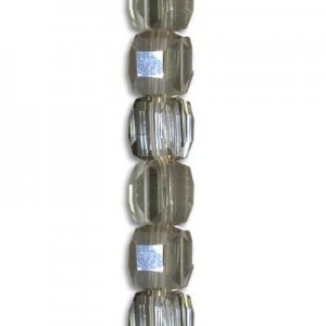 4mm Platinum Cube Celebrity Crystals - 7 Inch Strand (Apx 44 Beads)