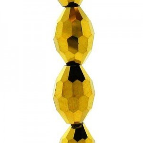 11x8mm Aurum 2x Ovals Celebrity Crystals - 7 Inch Strand (Apx 16 Beads)