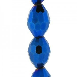 11x8mm Blue Iris Ovals Celebrity Crystals - 7 Inch Strand (Apx 16 Beads)