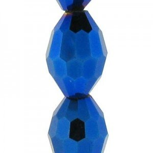 13x10mm Blue Iris Ovals Celebrity Crystals - 7 Inch Strand (Apx 13 Beads)