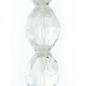 13x10mm Crystal Ovals Celebrity Crystals - 7 Inch Strand (Apx 13 Beads)