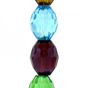 11x8mm Lollipop Mix Ovals Celebrity Crystals - 7 Inch Strand (Apx 16 Beads)