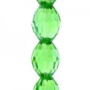 11x8mm Peridot Ovals Celebrity Crystals - 7 Inch Strand (Apx 16 Beads)