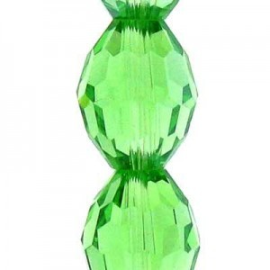 13x10mm Peridot Ovals Celebrity Crystals - 7 Inch Strand (Apx 13 Beads)
