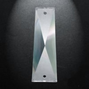 Swarovski Spectra Crystal 58x26mm 2-Hole Tapered Baguette 2nd Quality – Box of 60pc