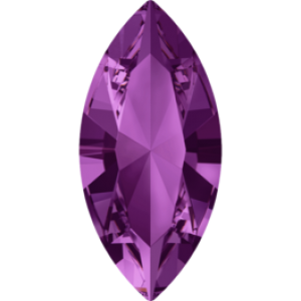 8x4mm Fancy Navette Xilion Amethyst Foiled Art. 4228 Swarovski® Austrian Crystal Stones