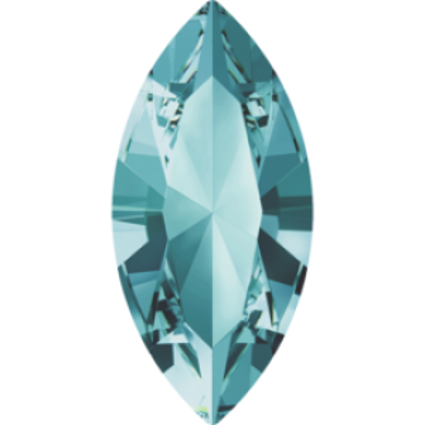 10x5mm Fancy Navette Xilion Aquamarine Foiled Art. 4228 Swarovski® Austrian Crystal Stones
