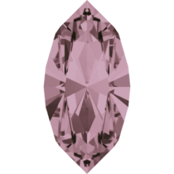 8x4mm Fancy Navette Xilion Crystal Antique Pink Foiled Art. 4228 Swarovski® Austrian Crystal Stones