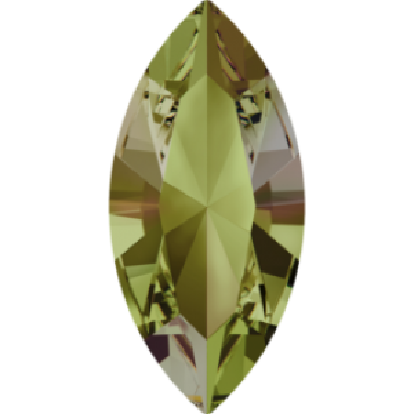 6x3mm Fancy Navette Xilion Crystal Luminous Green Foiled Art. 4228 Swarovski® Austrian Crystal Stones