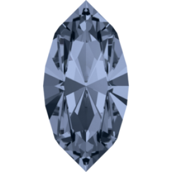 10x5mm Fancy Navette Xilion Denim Blue Foiled Art. 4228 Swarovski® Austrian Crystal Stones