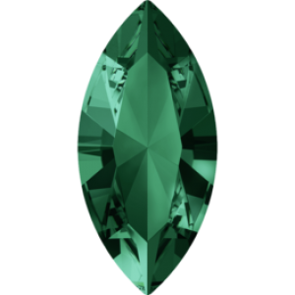 5x2.5mm Fancy Navette Xilion Emerald Foiled Art. 4228 Swarovski® Austrian Crystal Stones