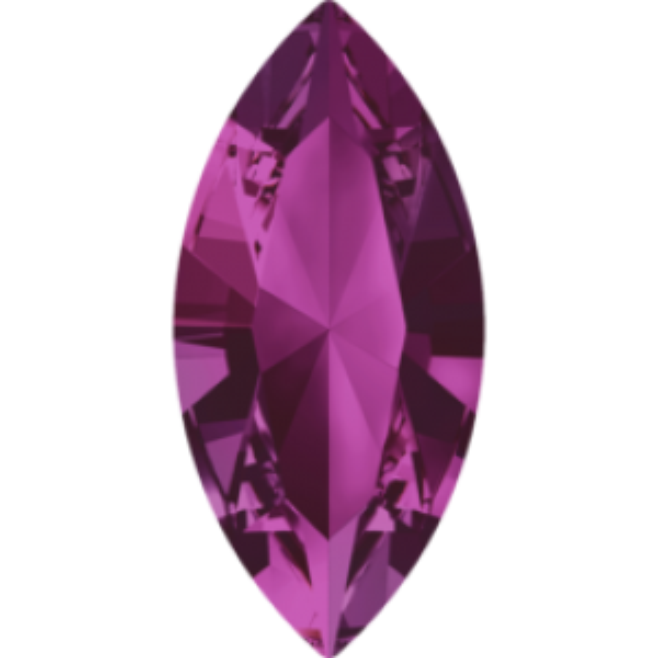 6x3mm Fancy Navette Xilion Fuchsia Foiled Art. 4228 Swarovski® Austrian Crystal Stones