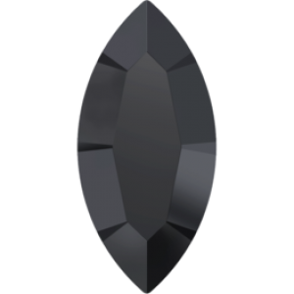 15x7mm Fancy Navette Xilion Hematite Unfoiled Art. 4228 Swarovski® Austrian Crystal Stones