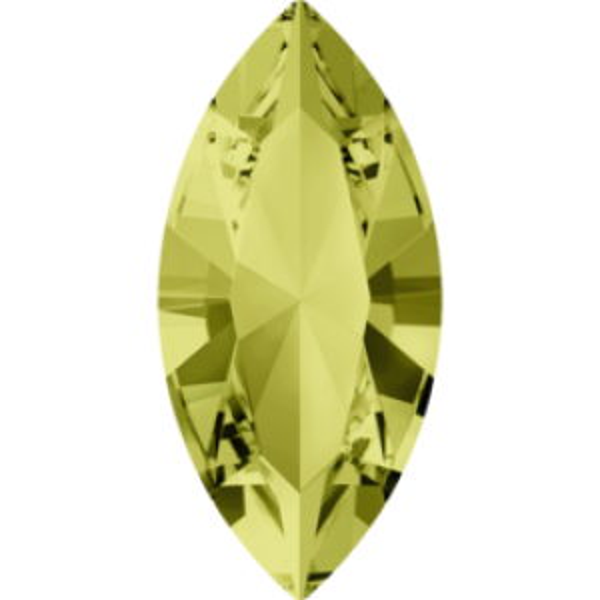 6x3mm Fancy Navette Xilion Jonquil Foiled Art. 4228 Swarovski® Austrian Crystal Stones