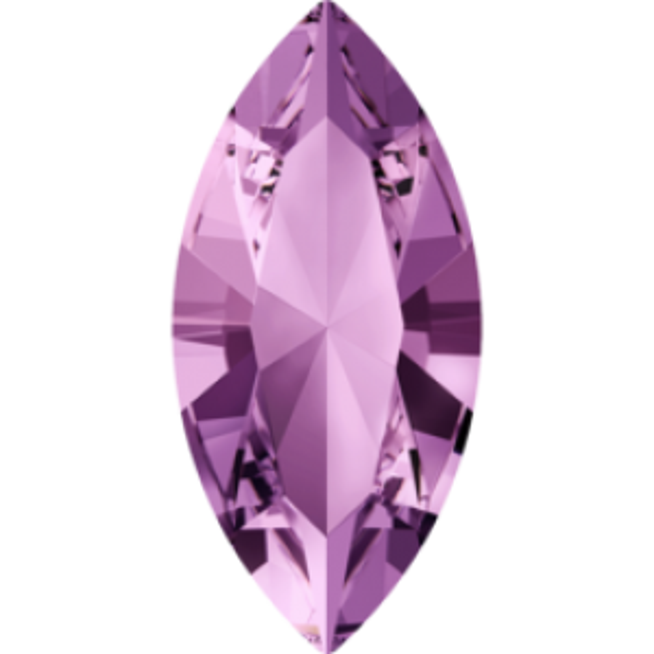 4x2mm Fancy Navette Xilion Light Amethyst Foiled Art. 4228 Swarovski® Austrian Crystal Stones