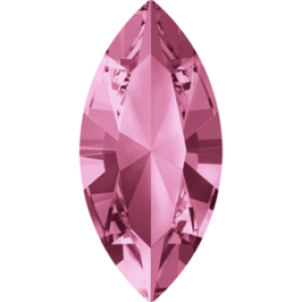 15x7mm Fancy Navette Xilion Light Rose Foiled Art. 4228 Swarovski® Austrian Crystal Stones