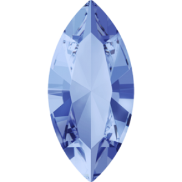 10x5mm Fancy Navette Xilion Light Sapphire Foiled Art. 4228 Swarovski® Austrian Crystal Stones